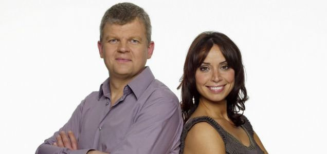 Adrian Chiles with The One Show co-host Christine Bleakley
