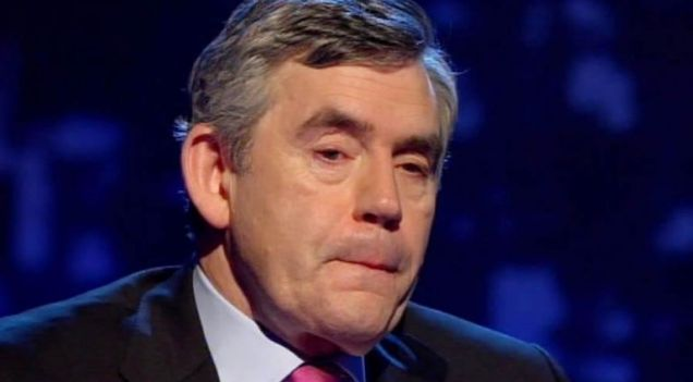Gordon Brown struggled with his emotion during the interview
