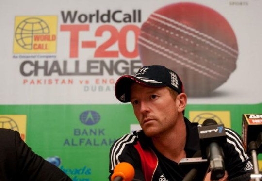 England's Paul Collingwood during a press conference at the team hotel in Dubai
