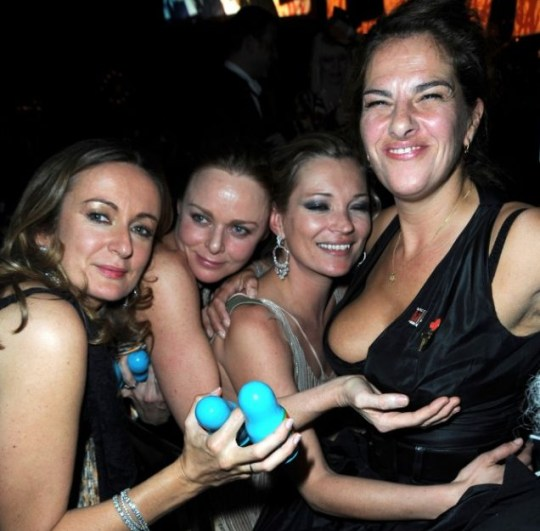 Cheeky Stella McCartney cups Tracey Emin's boobs at fashion