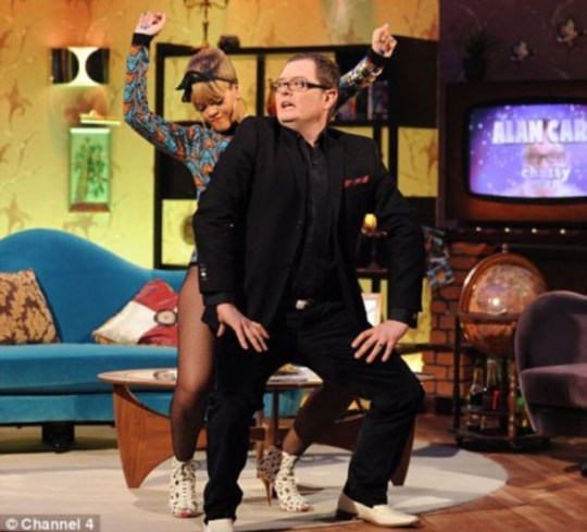 Rihanna dances with Alan Carr