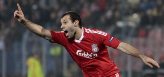 Signing on: Javier Mascherano is happy at Liverpool