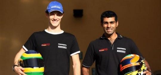 Karun Chandhok (right) and Bruno Senna