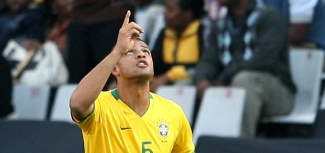 Felipe Melo, a target for Premier League title contenders Arsenal, playing for Brazil
