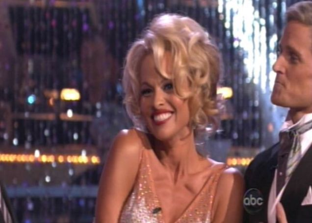 Pamela Anderson took on the look of Marilyn Monroe for her latest Dancing With The Stars performance