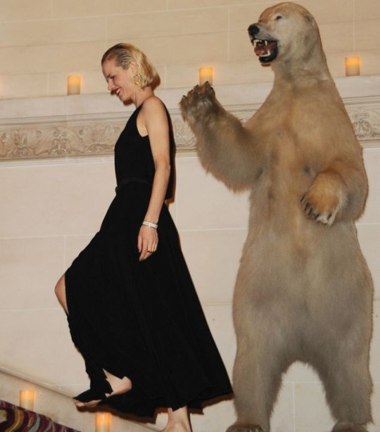 Eva Herzigova better watch out for the polar bear behind her