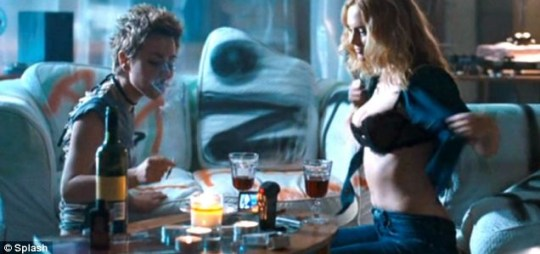Topless Heather Graham and Jaime Winstone stripp off in a lesbian scene for Boogie Woogie