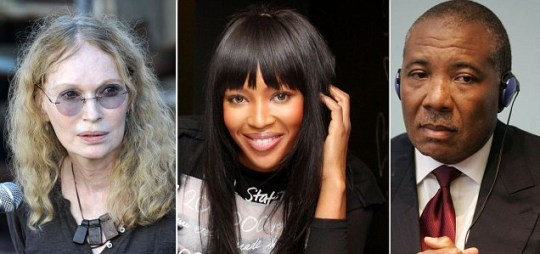 mia farrow, naomi campbell and charles taylor split