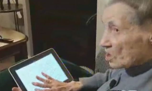 Virginia Campbell, 99-year-old iPad owner