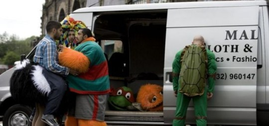 A scene from satirist Chris Morris's first feature film, Four Lions.