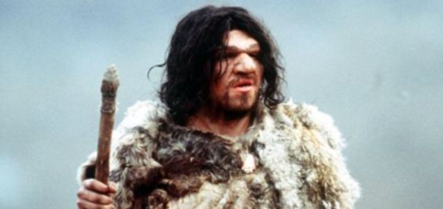 WALKING WITH NEANDERTHALS. A channel Four film crew is making a television documentary about our Neanderthal ancestors. Neanderthal caveman