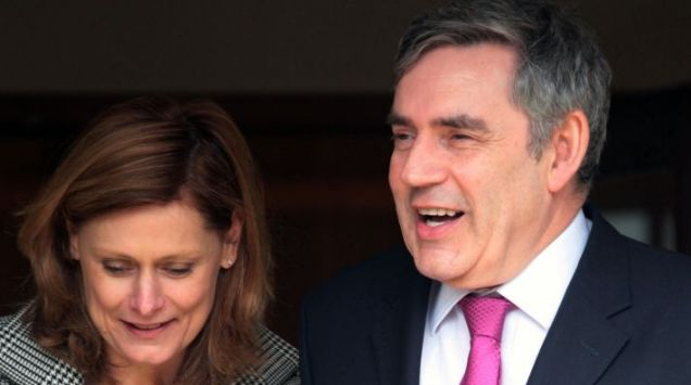 Prime Minister Gordon Brown and his wife Sarah Photo: David Cheskin/PA Wire