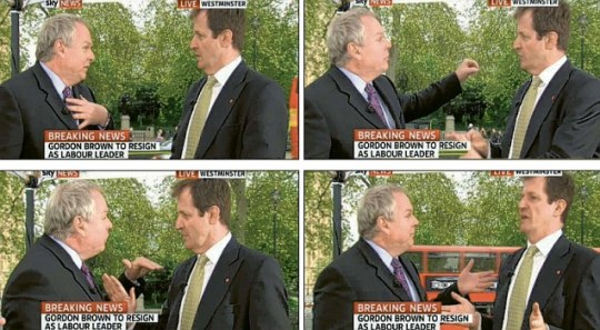 Adam Boulton and Alastair Campbell