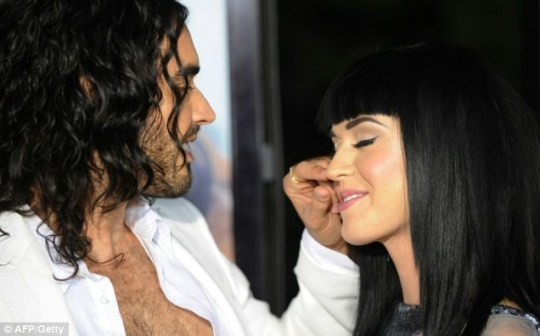 Actor Russell Brand and partner singer Katy Perry