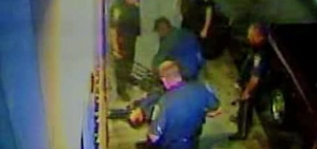 Police come to the rescue of a robber who called 911 after getting stuck in a shop window.