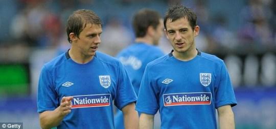 Stephen Warnock and Leighton Baines