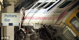 The Potters Bar rail disaster killed seven people