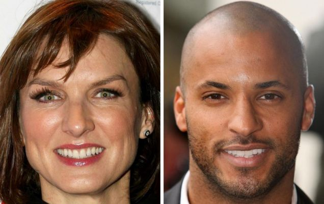 It's behind you! - This year's winners Fiona Bruce and Ricky Whittle