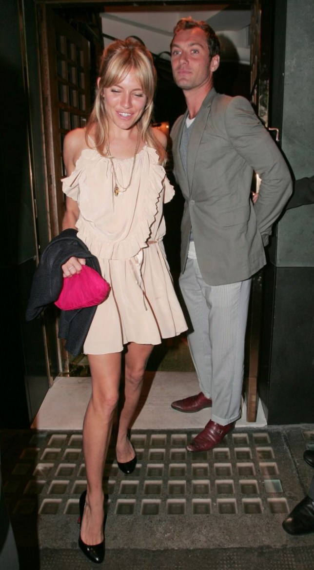 Jude Law and Sienna Miller out on the town (Photo: Rex)