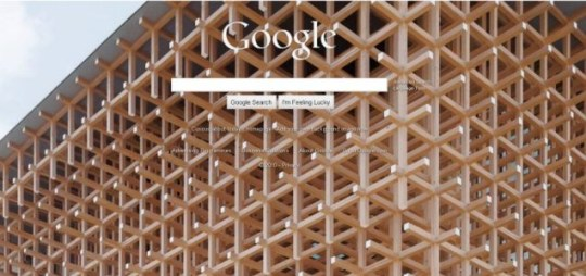 Google have replaced their 'classic' background with a number of images for the next 24 hours