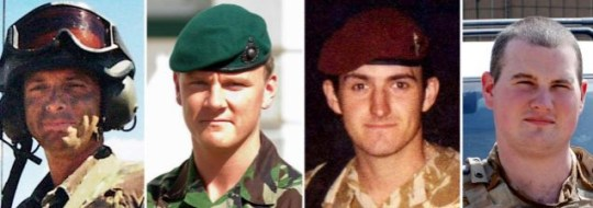 Corporal Stephen Allbutt, Private Phillip Hewett, Private Lee Ellis and Lance Corporal Kirk Redpath soldiers Iraq three day trial families compensation payout weapon immunity
