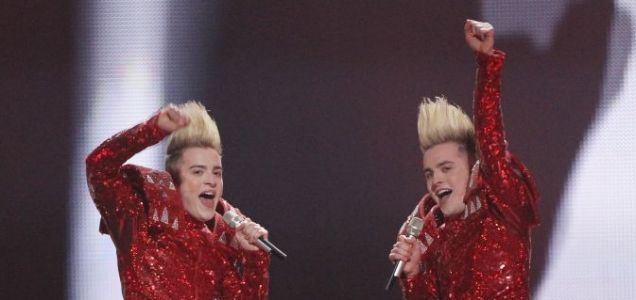 Eurovision song contest Jedward John and Edward ABBA success Lipstick and Blue I Can