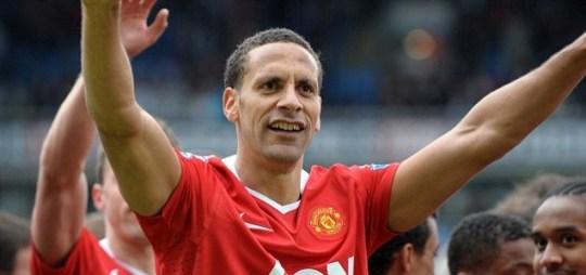 Rio Ferdinand celebrates for Manchester United