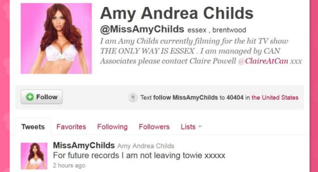 Amy Childs towie