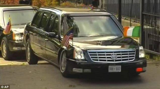 Barack Obama car stuck ramp Dublin