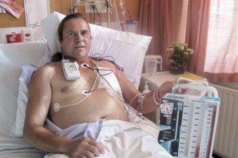 New Zealand truck driver Steven McCormack gets treatment at Whakatane Hospital
