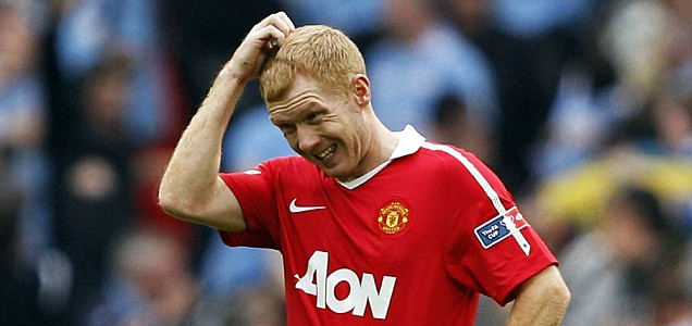 Manchester United's Paul Scholes could retire this summer