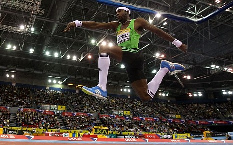 Great Britain's Phillips Idowu is action
