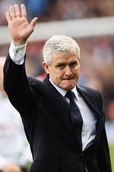 Next move: Speculation is mounting on where Mark Hughes will manage next after Aston Villa denied they were interested (Pic: Getty Images)