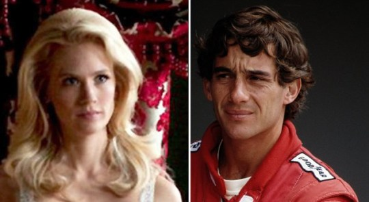 January Jones in X-Men: First Class battles Ayrton Senna in film face off