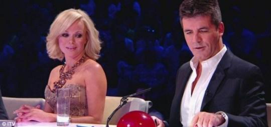 BGT Judge Amanda Holden with Simon Cowell