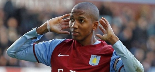Aston Villa's midfielder Ashley Young