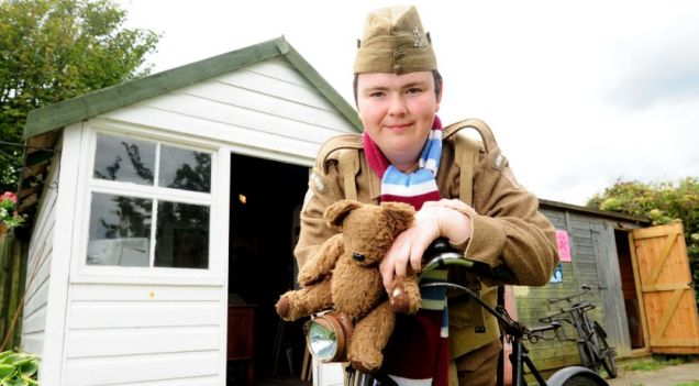 Darren Stride in Dad's Army costume outside his shed (Pictures: Archant)
