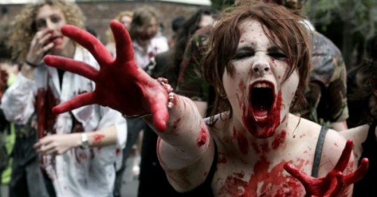 Zombies Leicester flashmob