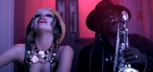 Clarence Clemons appeared with Lady Gaga in the video for The Edge Of Glory, on which he played saxophone