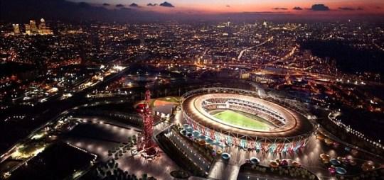 West Ham's winning stadium design which retains the athletics track (PA)