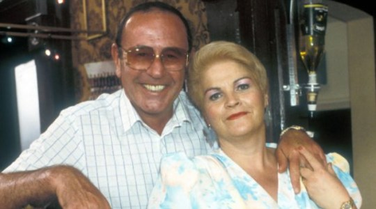 Pat and then-husband Frank Butcher during their soap marriage