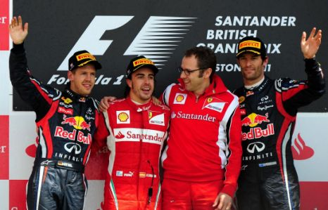 Mark Webber, Sebastian Vettel, British Grand Prix