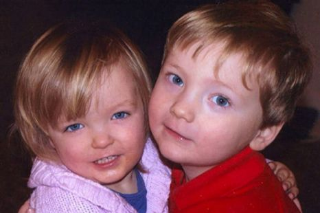 Tragic: Elise, two, and Harry Donnison, three