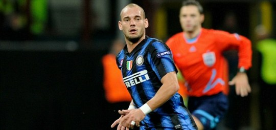Wesley Sneijder of FC Internazionale Milano