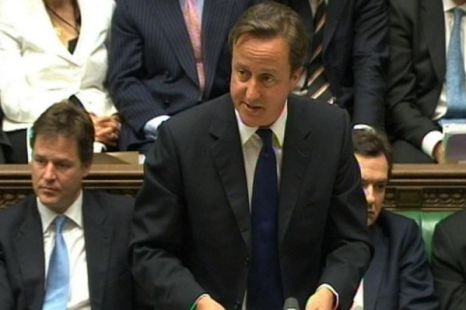 Prime Minister David Cameron speaks on the recent phone hacking claims during Prime Minister's Questions