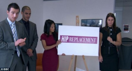 Apprentice, hip replacement