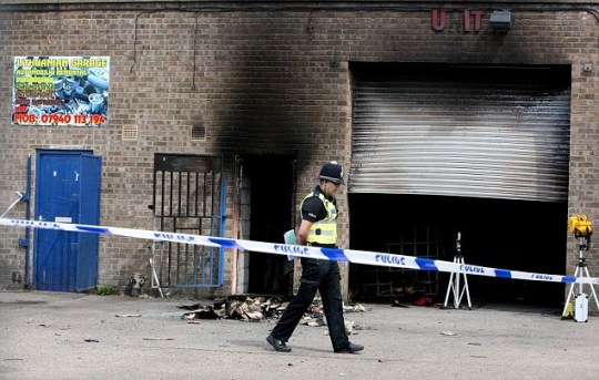 An industrial estate in Boston, Lincolnshire, where five Lithuanian men were killed in an explosion