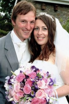 Ben and Catherine Mullany on their wedding day