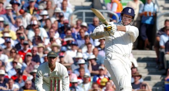 Optimistic: Trescothick played a key role for England in their 2005 Ashes series win