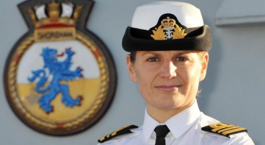 Front line: Lt Cdr Sarah West will command HMS Portland (Picture: PA)